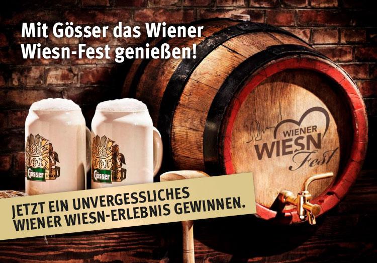 Mit Gösser das Wiener Wiesn-Fest genießen!